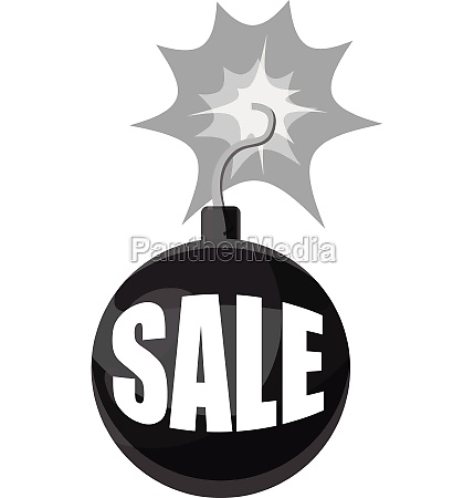 bomb with the word sale icon