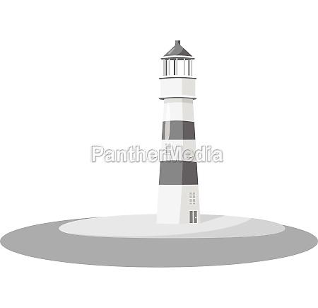 lighthouse icon gray monochrome style