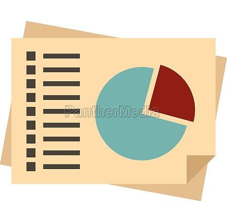 diagram icon flat style