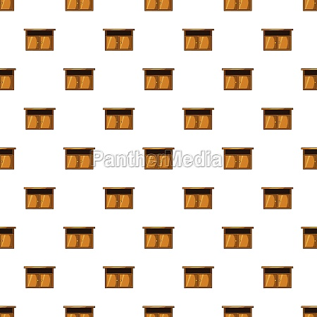 bedside table pattern cartoon style