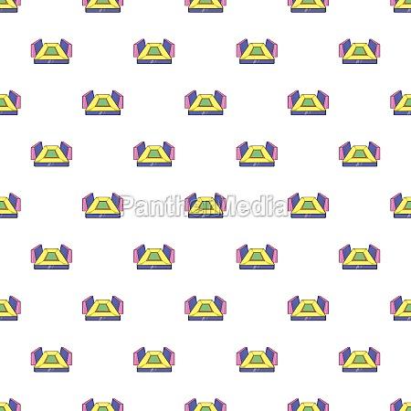 rectangular football stadium pattern