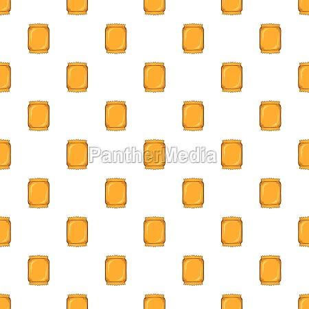 crumpled packaging pattern cartoon style