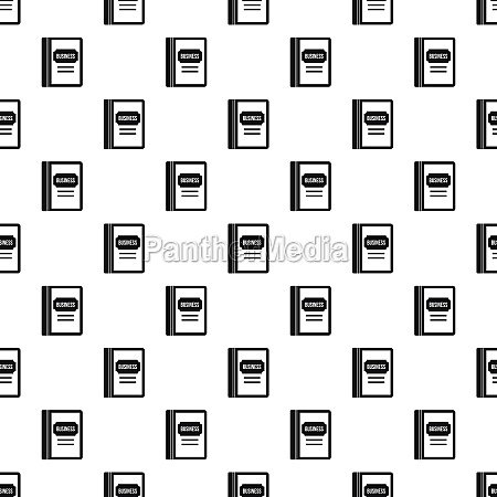 business book pattern simple style