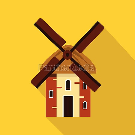 mill icon flat style