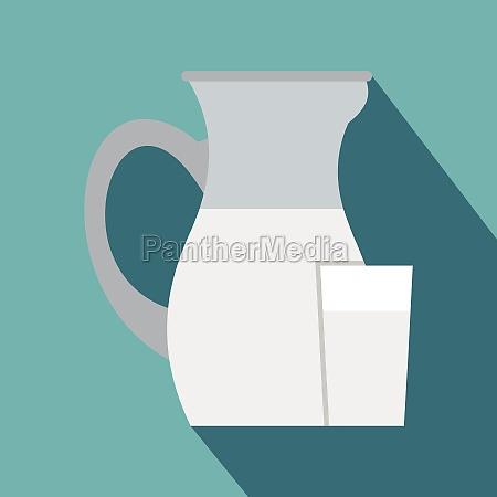 jug of milk icon flat style