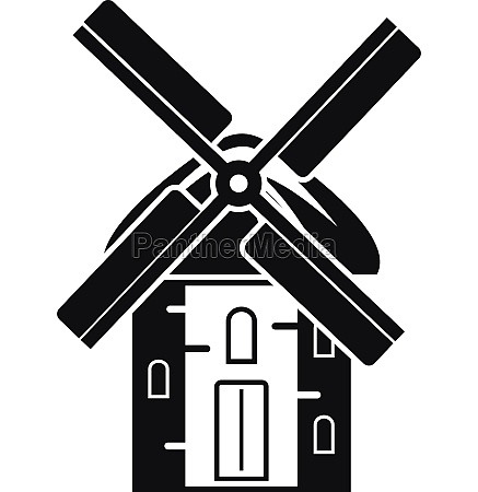 mill icon simple style