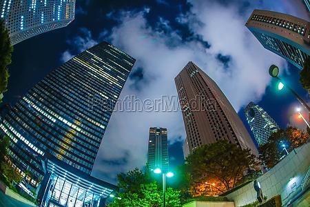 tokyo shinjuku of skyscrapers night view