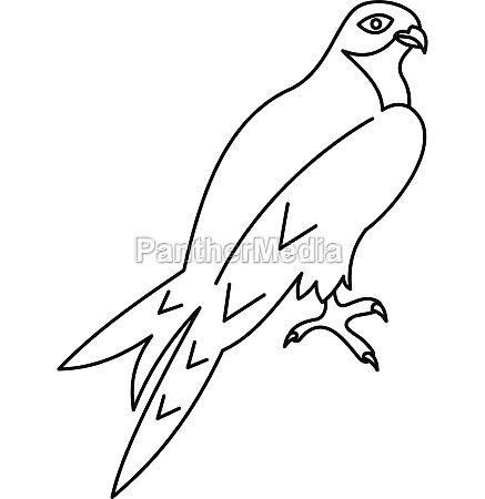 arabian falcon icon outline style