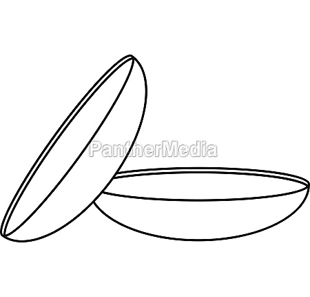 two contact lenses icon outline style