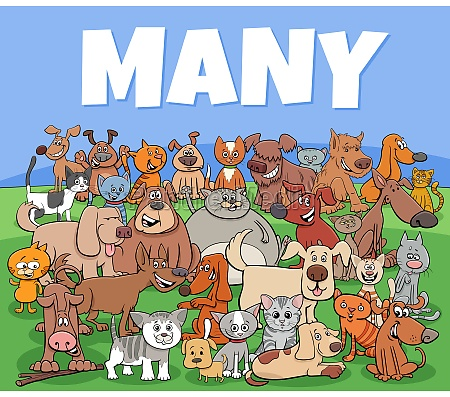 many dogs and cats cartoon characters