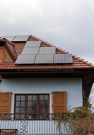 solar electric panels on a house