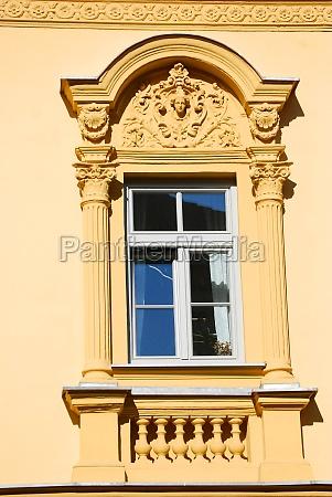 a window and pillars