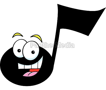 cartoon illustration of a musical note