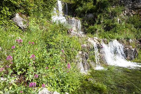 waterfall near grasse provence france