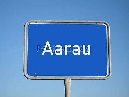 place name sign aarau