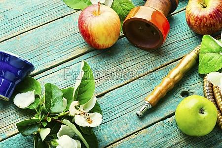 oriental apple smoking hookah