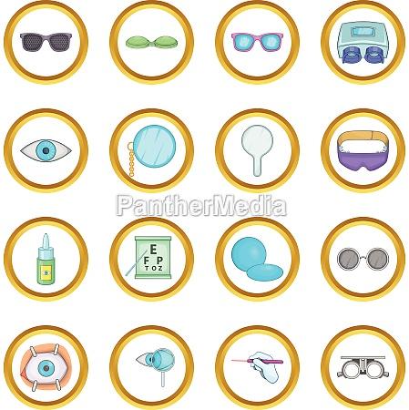 ophthalmologist vector set cartoon style