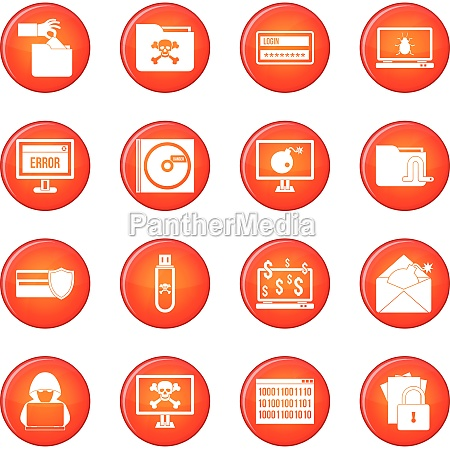 criminal icons vector set