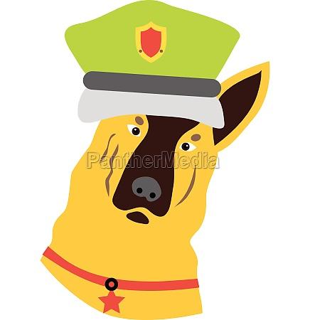 police dog icon flat style