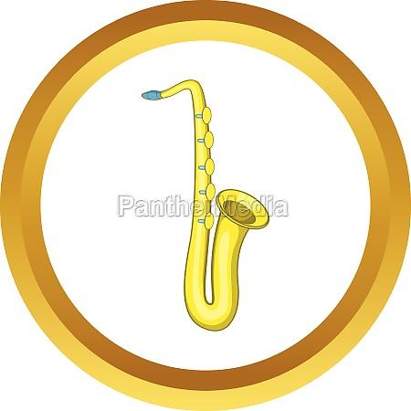 saxophone vector icon