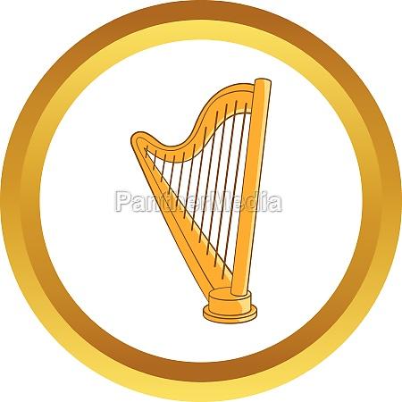 harp vector icon