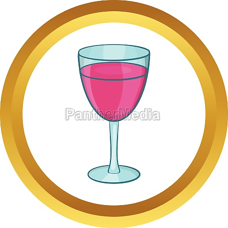 glass of red wine vector icon