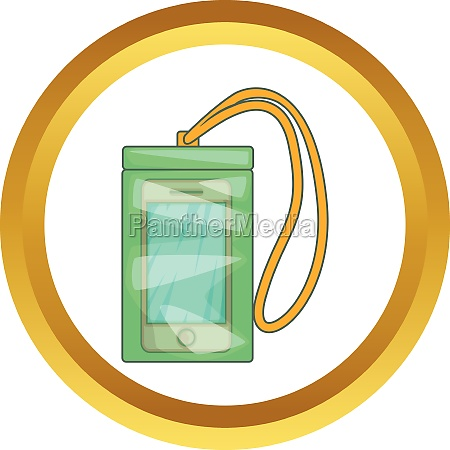 waterproof phone case vector icon