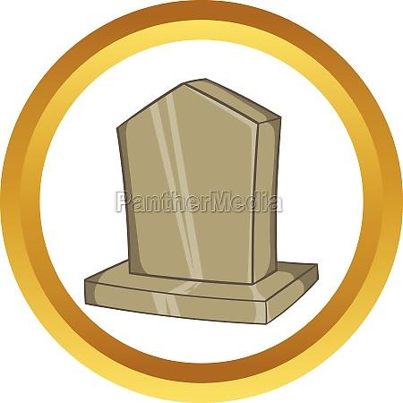 sepulchral monument vector icon