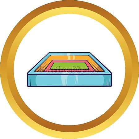 square stadium vector icon