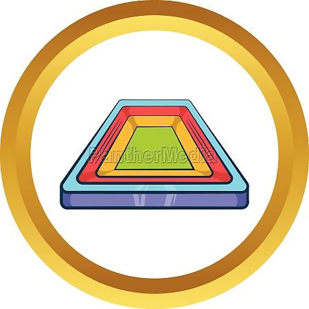 small stadium vector icon