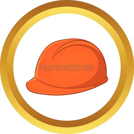 construction helmet vector icon