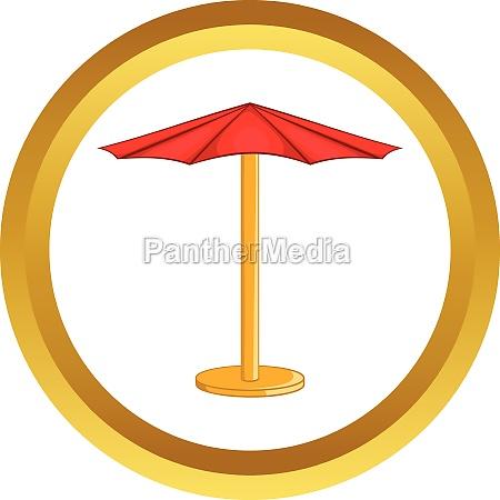 beach umbrella vector icon