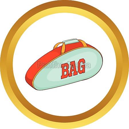 tennis bag vector icon