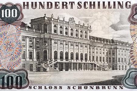 schunbrunn palace from old austrian money