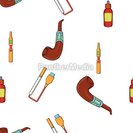 cigarette pattern cartoon style