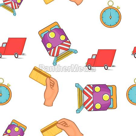 shipment pattern cartoon style