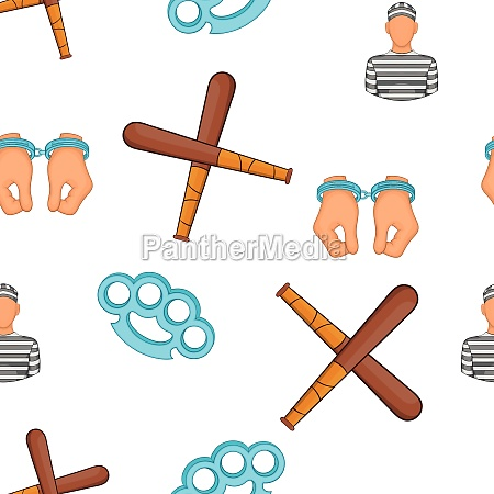 crime and punishment pattern cartoon style