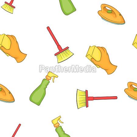 sanitation pattern cartoon style
