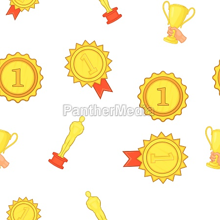 award elemenrs pattern cartoon style