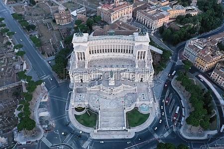 aerial view of altare della patria