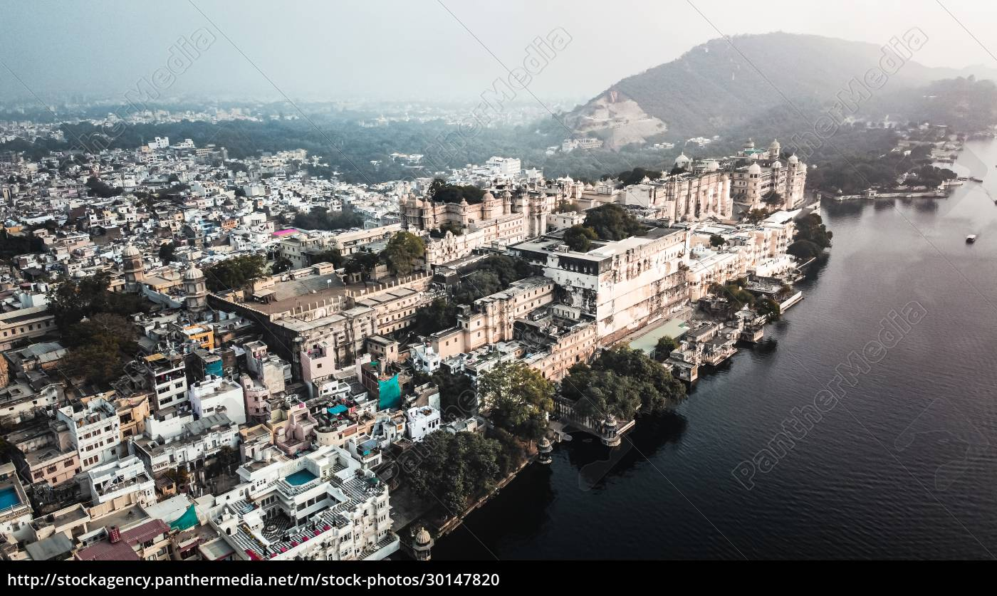 aerial, view, of, lakeside, city, palace - 30147820