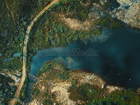 aerial view of loch cluanie near