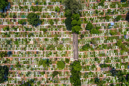 aerial view of banani graveyard a