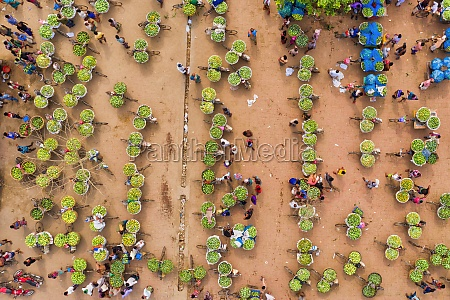 aerial view of a few people