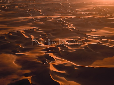 aerial abstract view of sand dunes