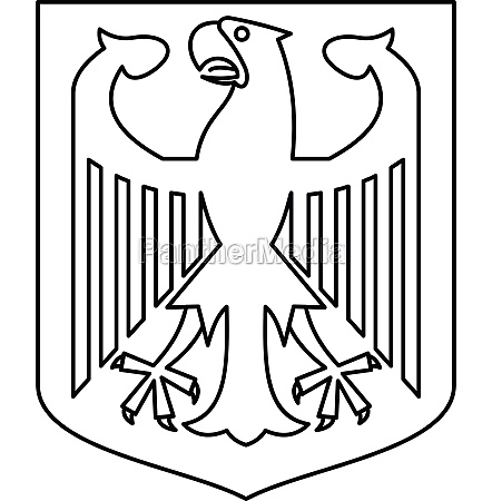 german coat of arms icon outline