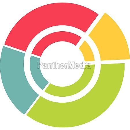 big circle icon flat style