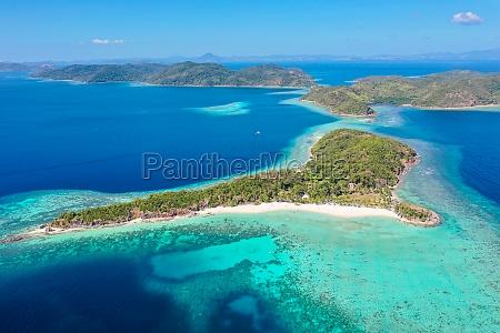 aerial view of malcapuya island culion