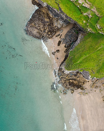 aerial view of bossiney cove tintagel