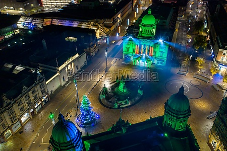 aerial view of queen victoria square